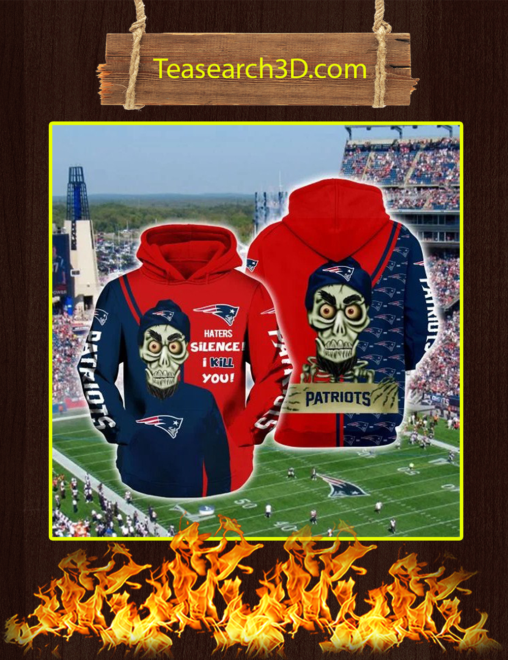 Achmed Patriots Haters Silence I Kill You Full Printing 3D Hoodie
