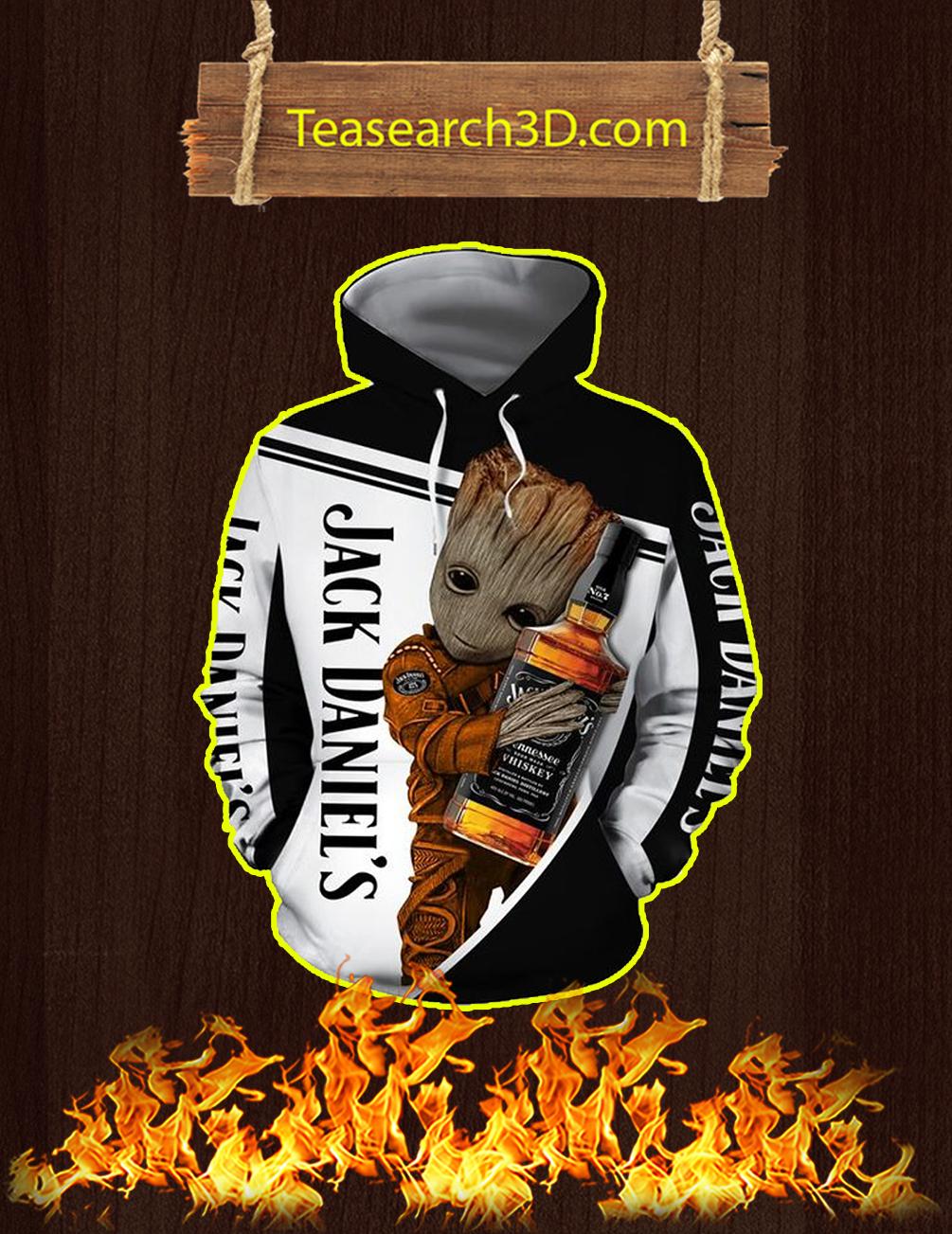 Groot Jack Daniel's 3D Hoodie - front