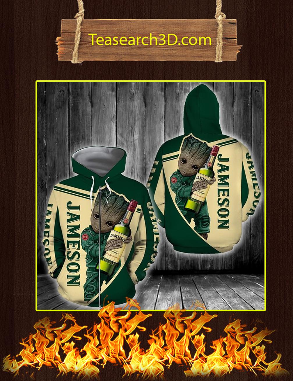 Groot Jameson Irish Whiskey 3D Zip Hoodie