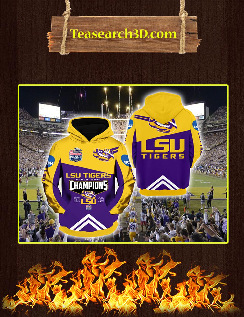 LSU Tigers Peach Bowl Champions 2019 3D Hoodie