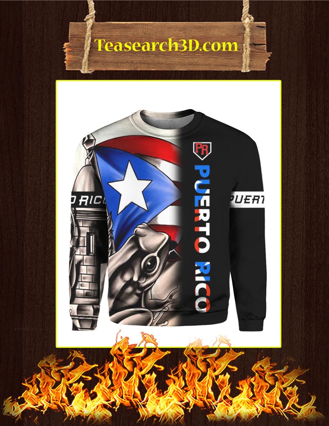 Puerto Rico Taino Team PR 3d All Over Sweatshirt