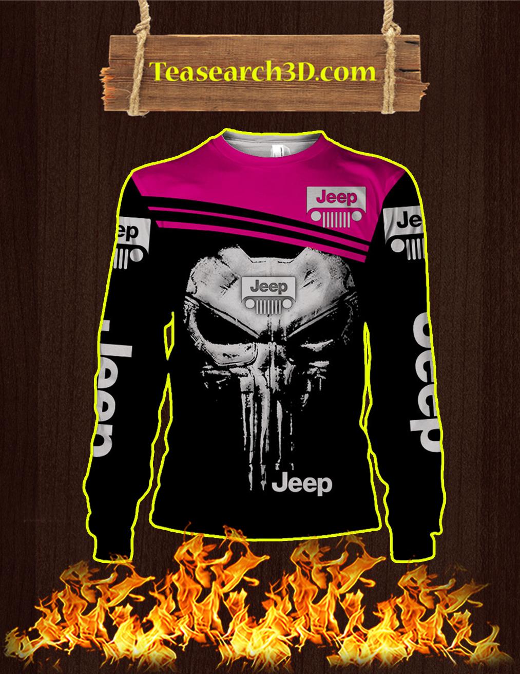 Punisher Skull Jeep 3D Sweatshirt