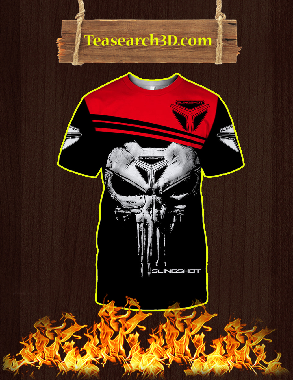 Punisher Skull Slingshot 3D T-shirt
