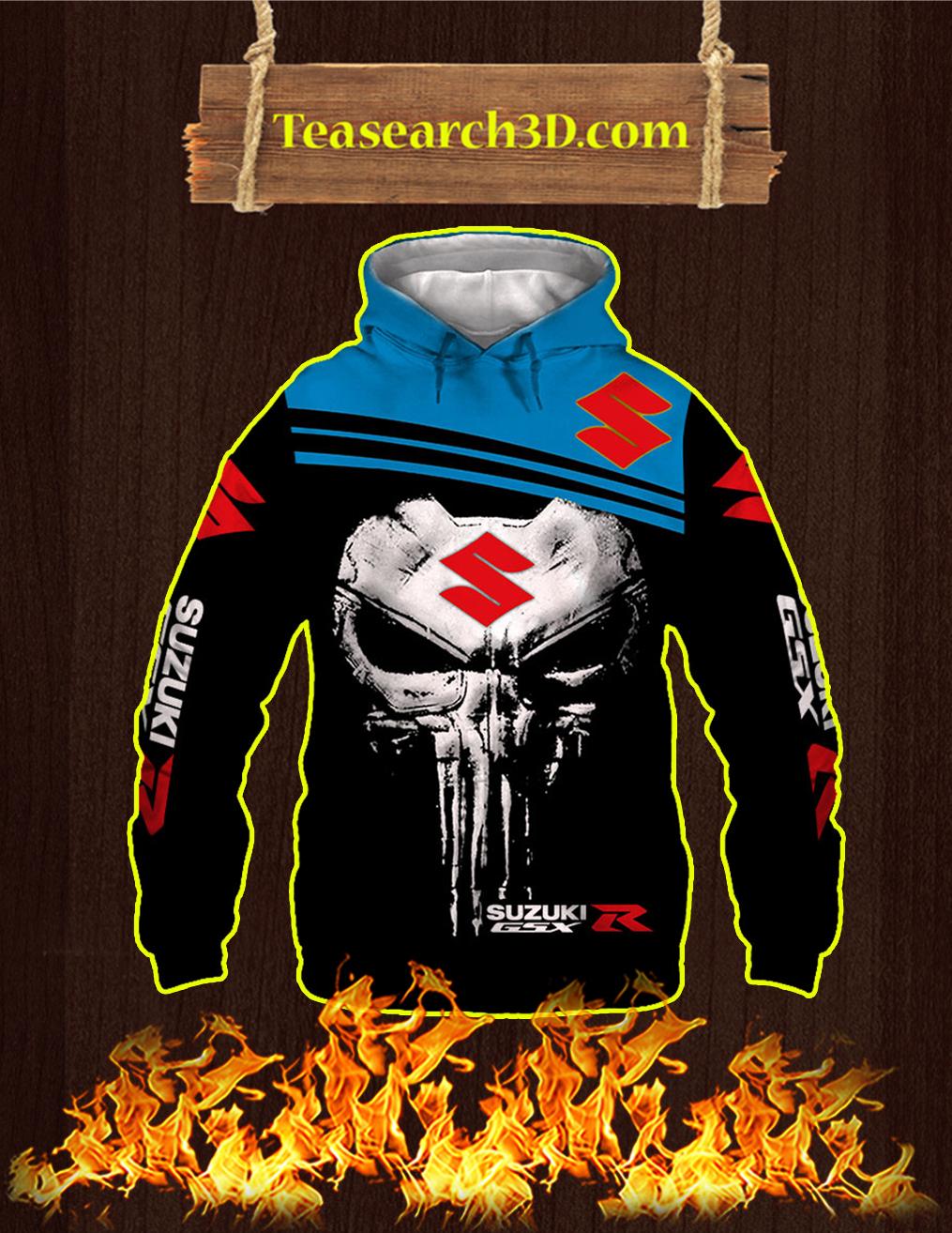 Punisher Skull Suzuki GSX-R 3D Hoodie