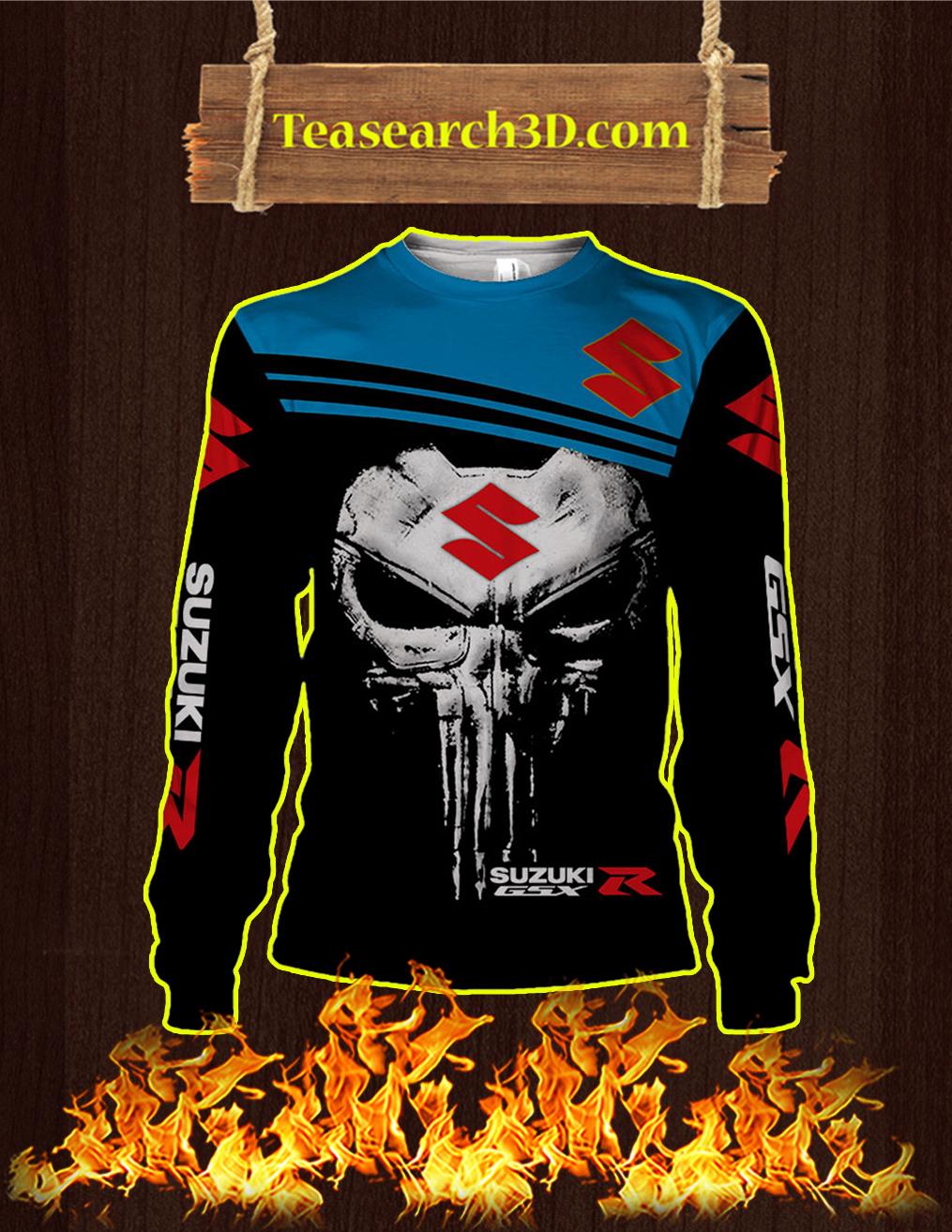Punisher Skull Suzuki GSX-R 3D Sweatshirt