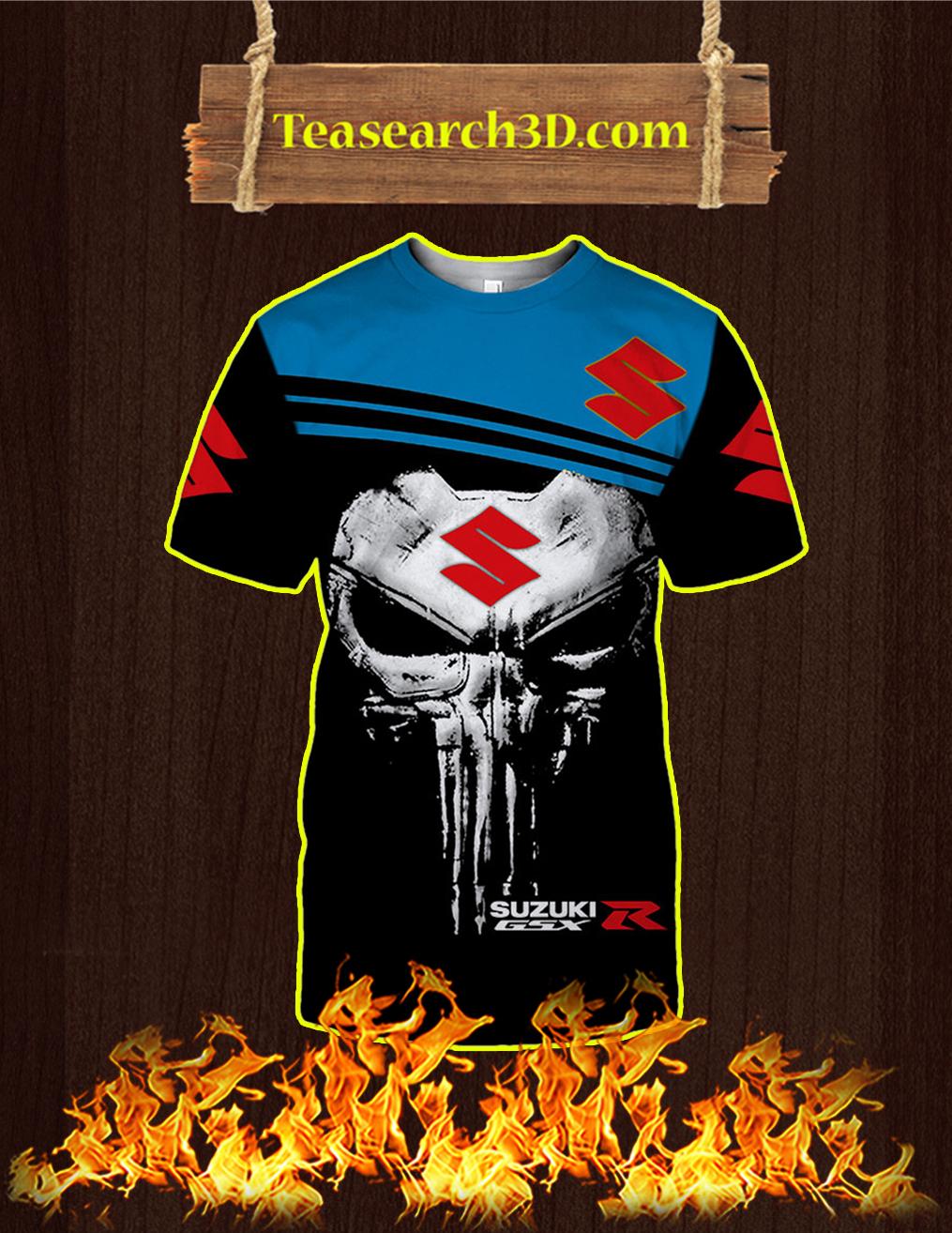 Punisher Skull Suzuki GSX-R 3D T-shirt