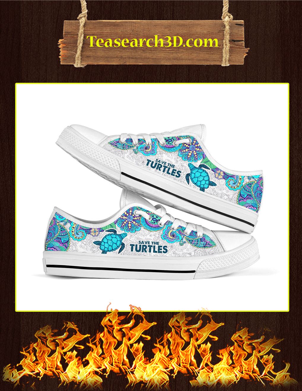 Save The Turtles Low Top- picture 1