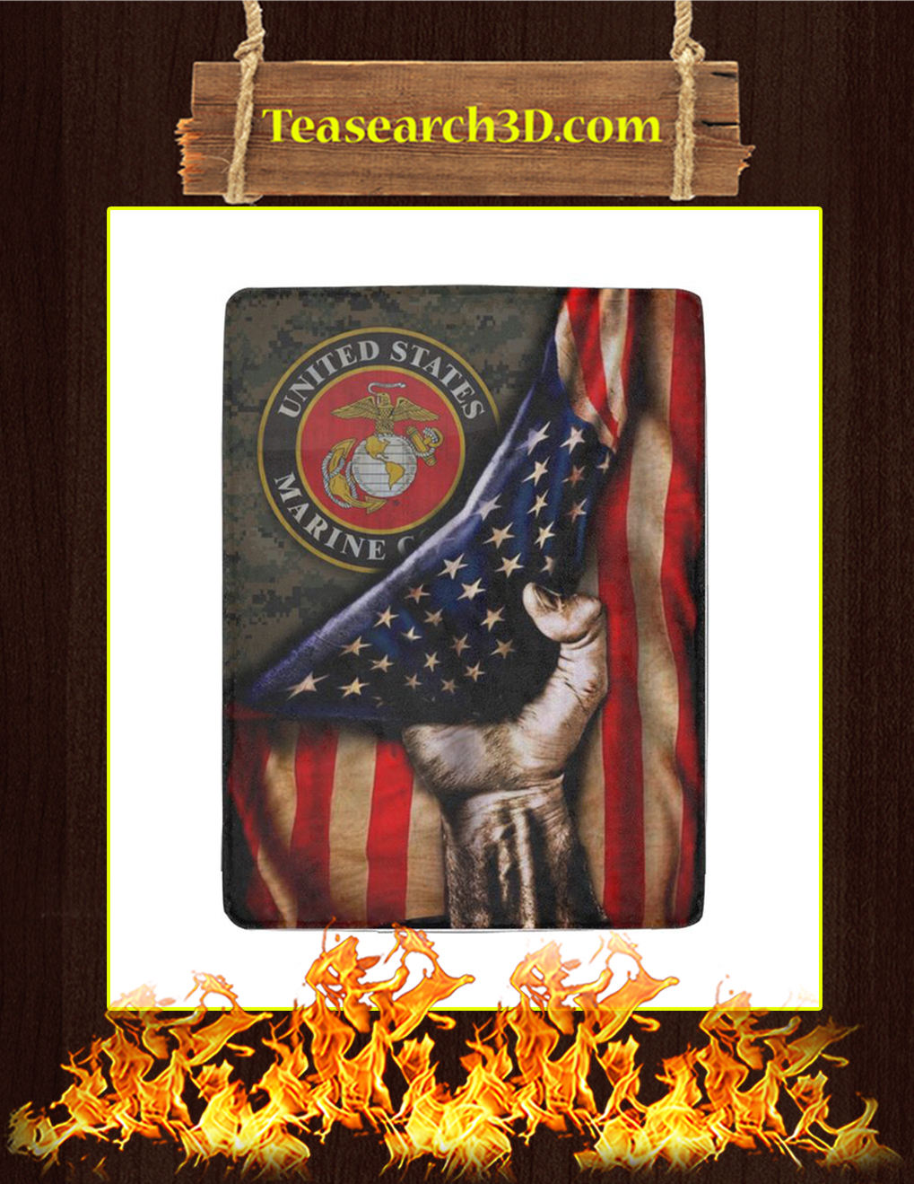 US Marine Corps Flag Blanket-youth