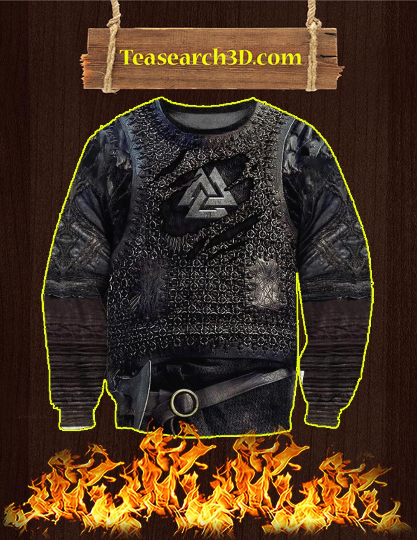 Vikings Armor 3D Printed Sweatshirt