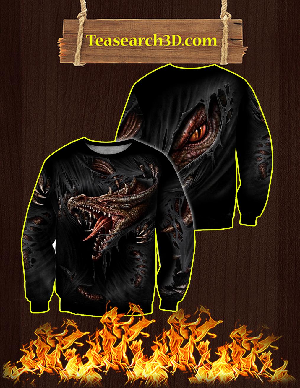 3D Armor Tattoo and Dungeon Dragon Sweatshirt