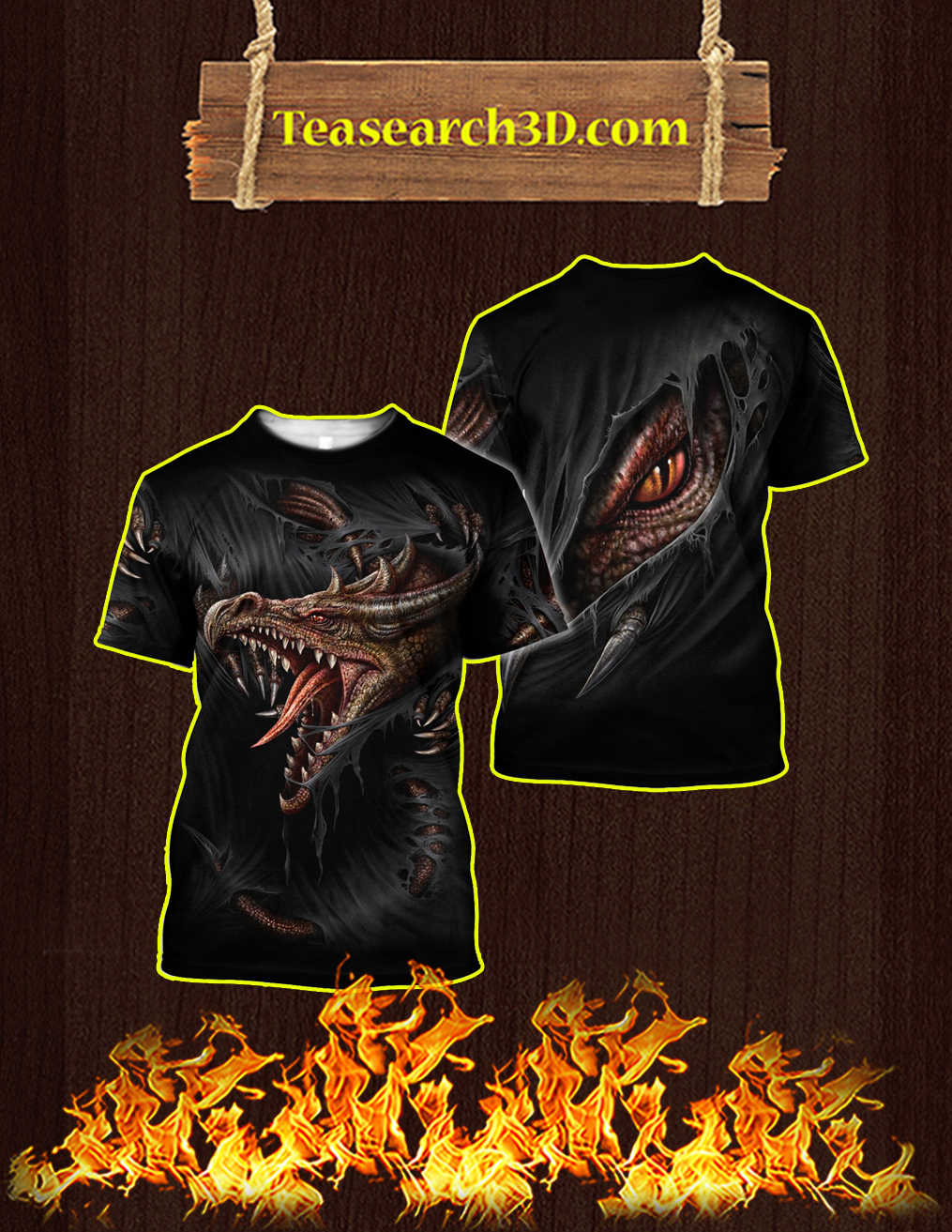 3D Armor Tattoo and Dungeon Dragon T-shirt