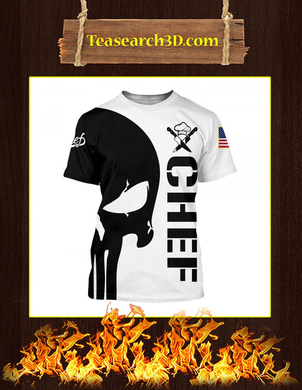 3D Printed Chef Punisher Skull T-shirt