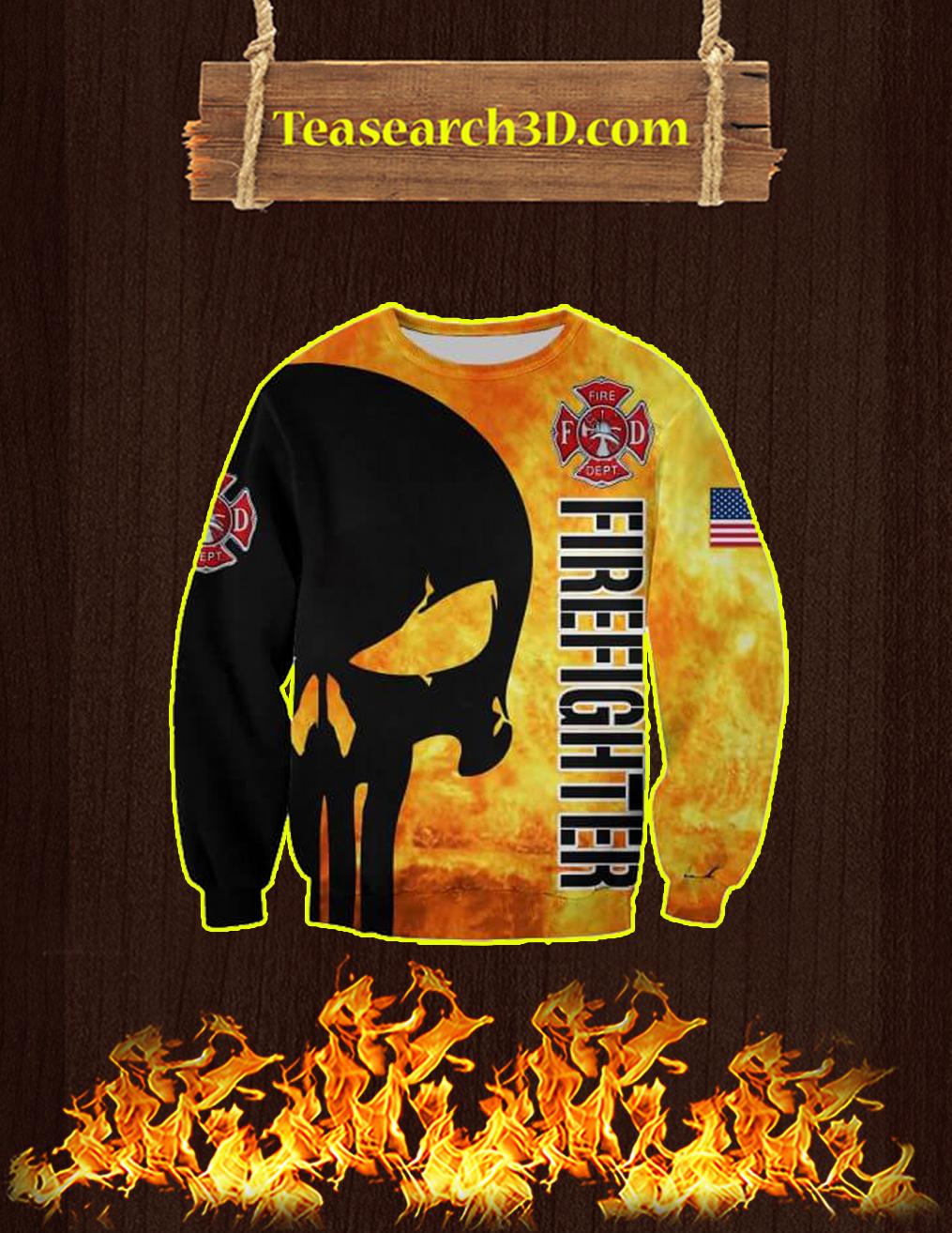 3D Printed Firefighter Punisher Skull Sweatshirt