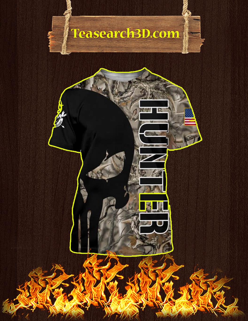 3D Printed Hunter Punisher Skull T-shirt