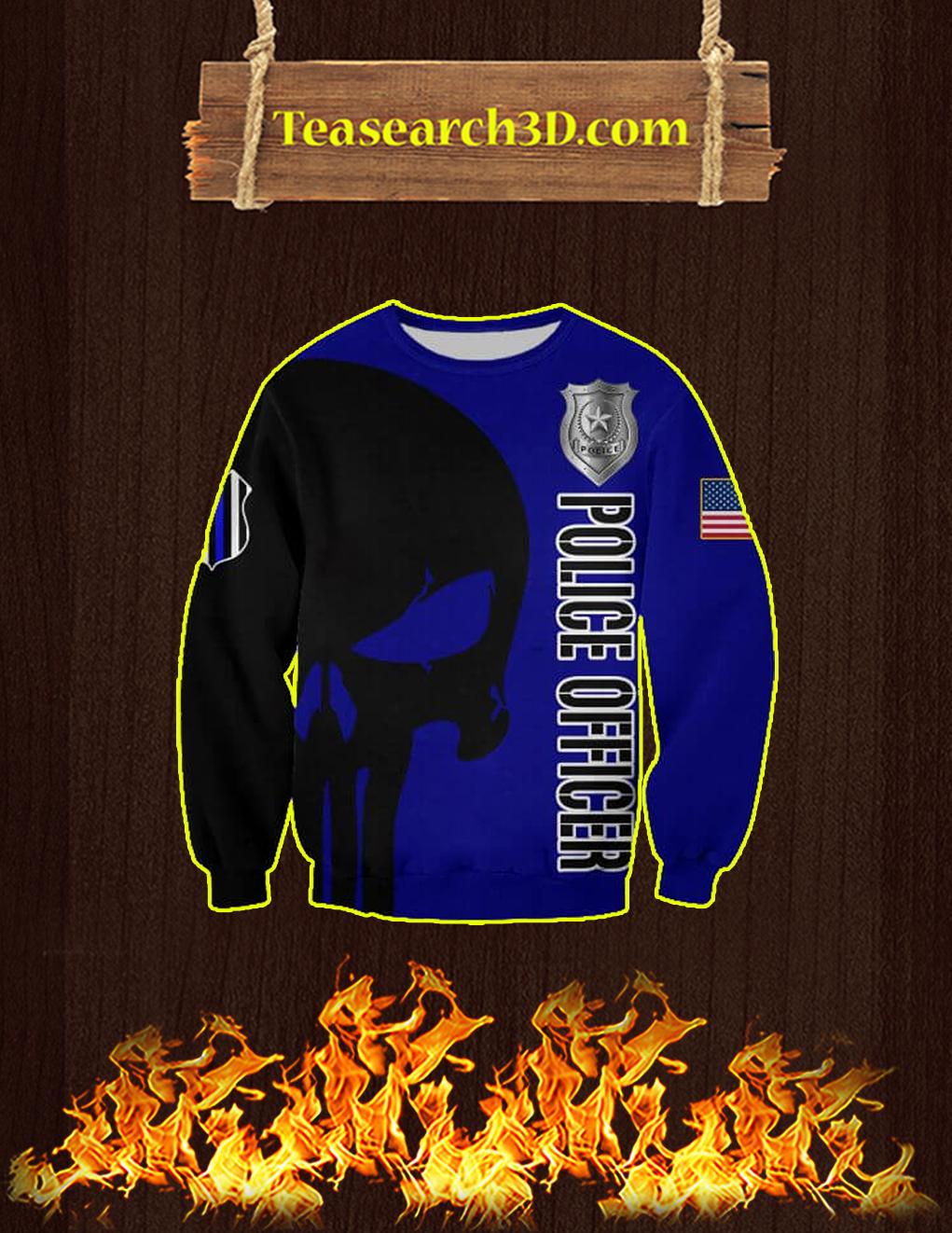 3D Printed Police Officer Punisher Skull Sweatshirt