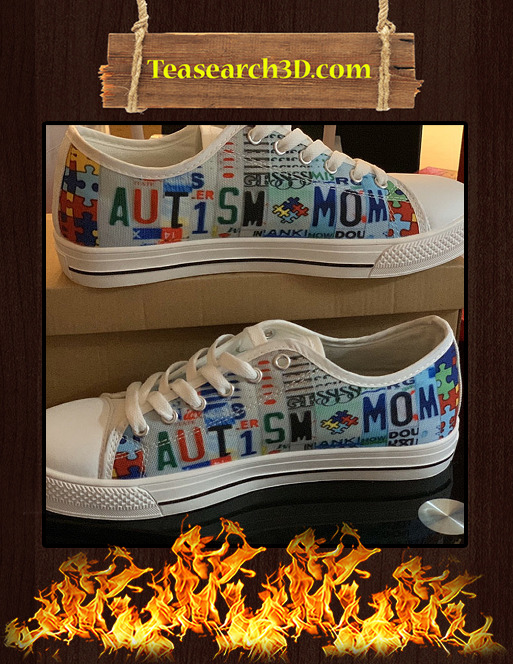 Autism Mom Low Top Shoes pic 1