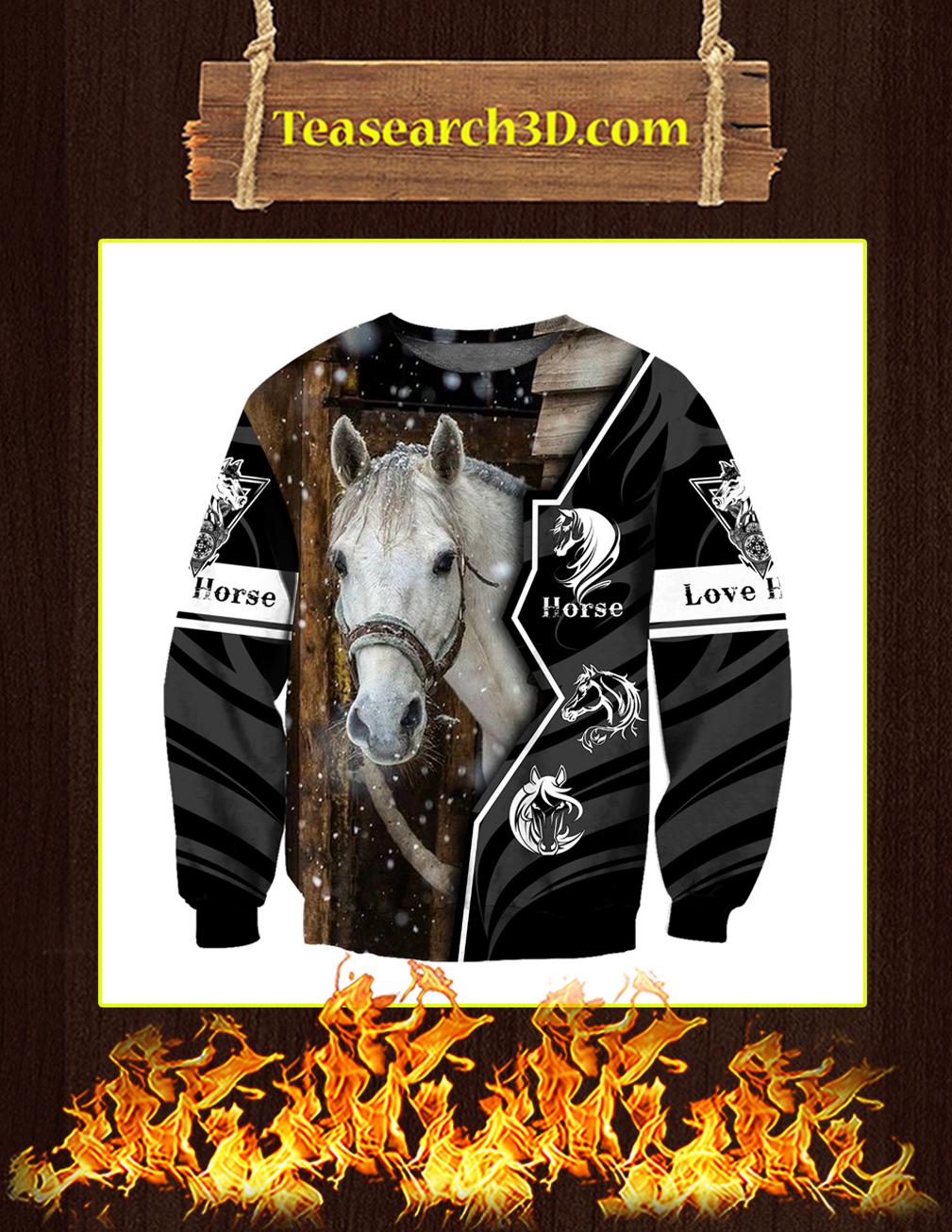 Beautiful Love Horse 3D All Over Printed Sweatshirt