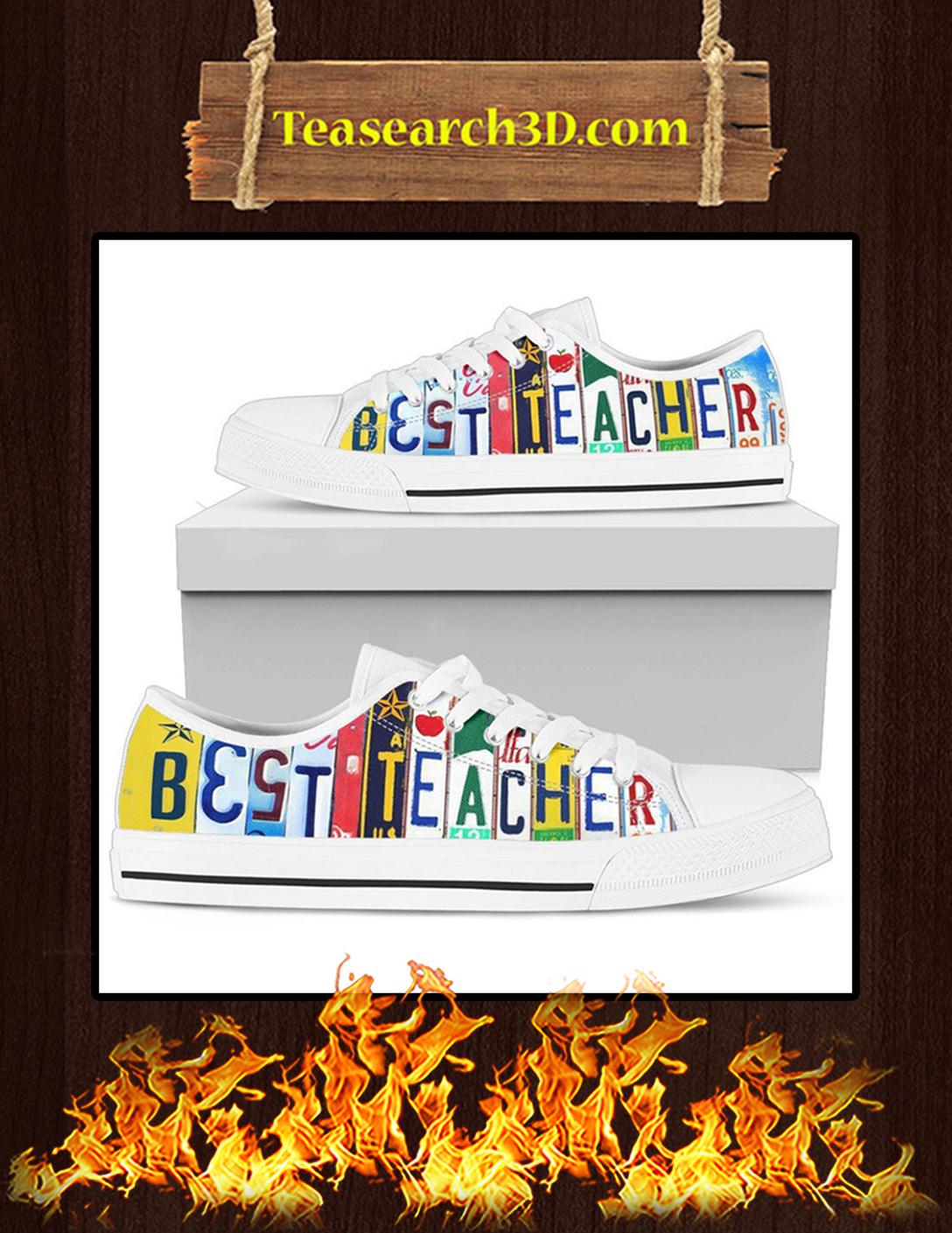 Best Teacher Low Top Shoes Pic 2