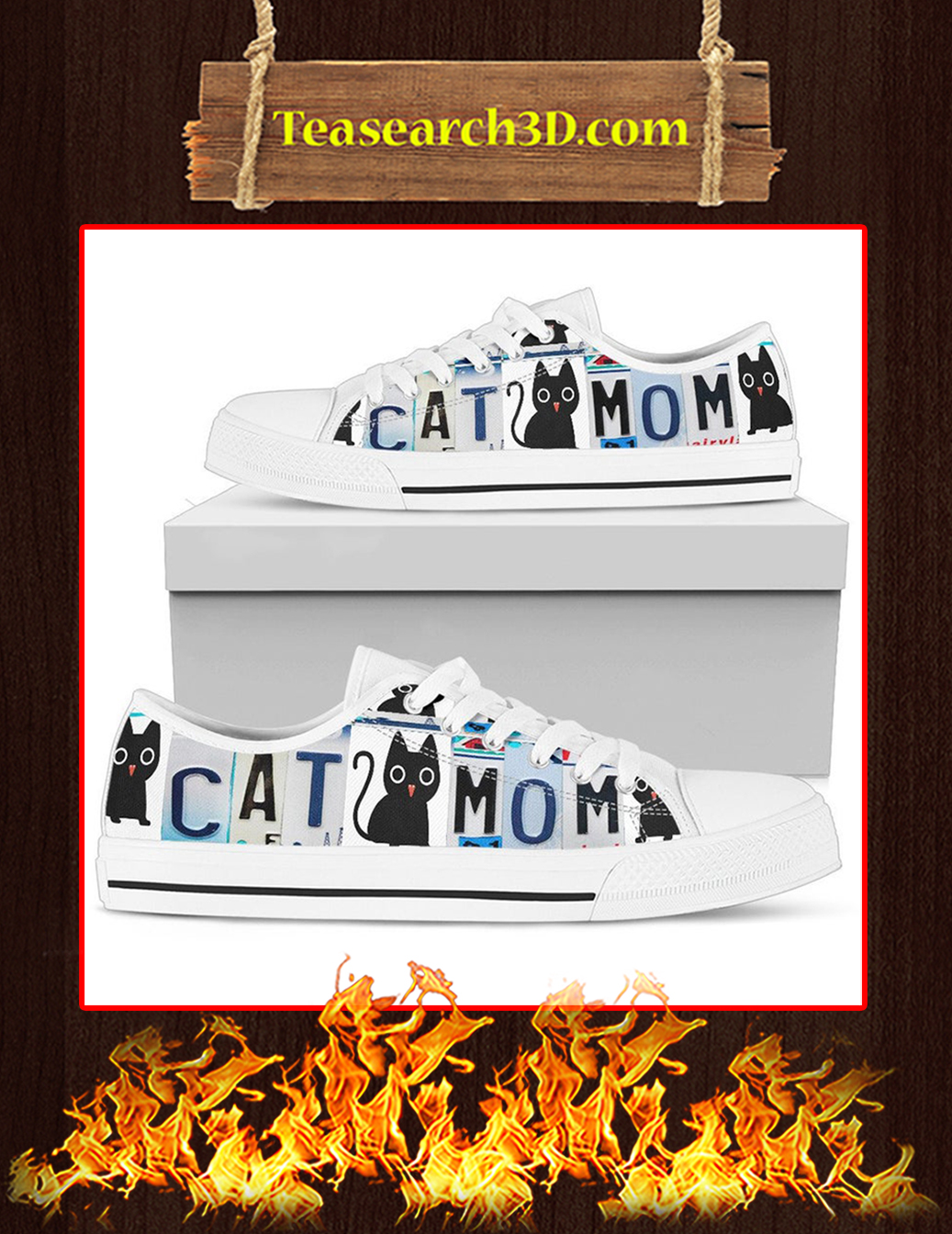 Cat Mom Low Top Shoes - Pic 1