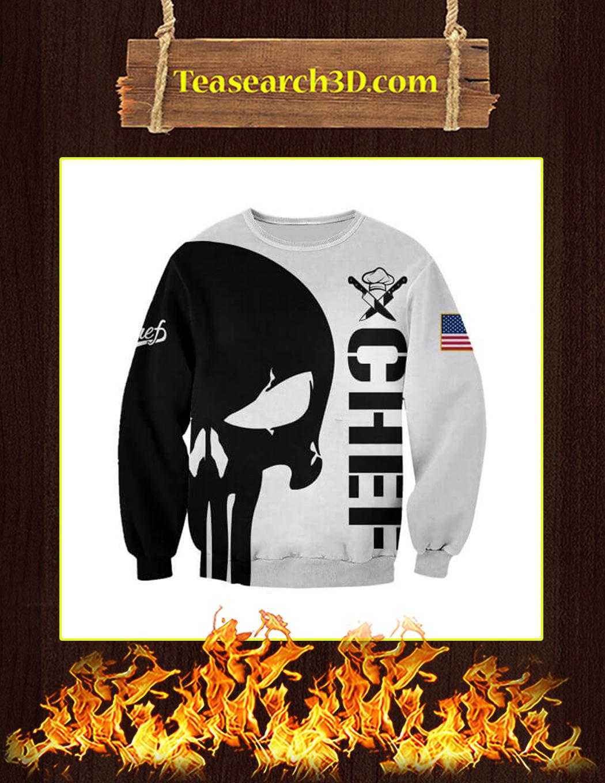 Chef Punisher Skull 3D Printed Sweatshirt
