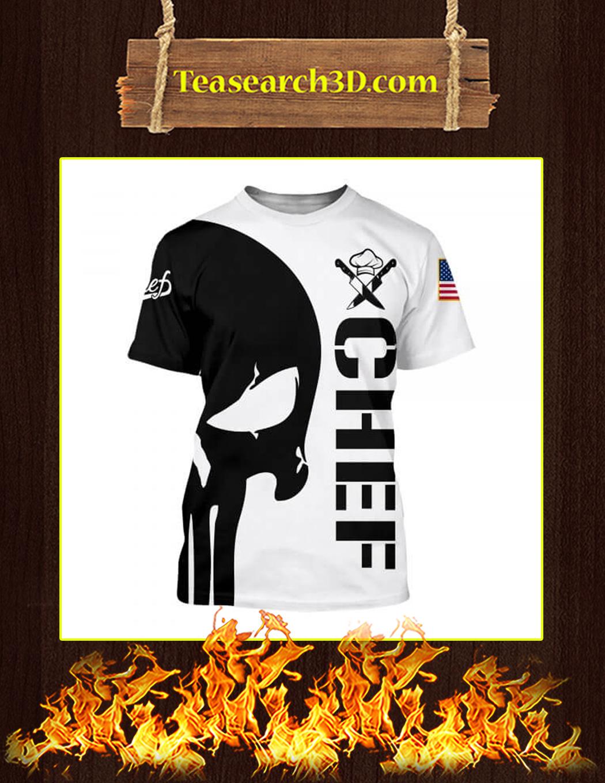 Chef Punisher Skull 3D Printed T-shirt