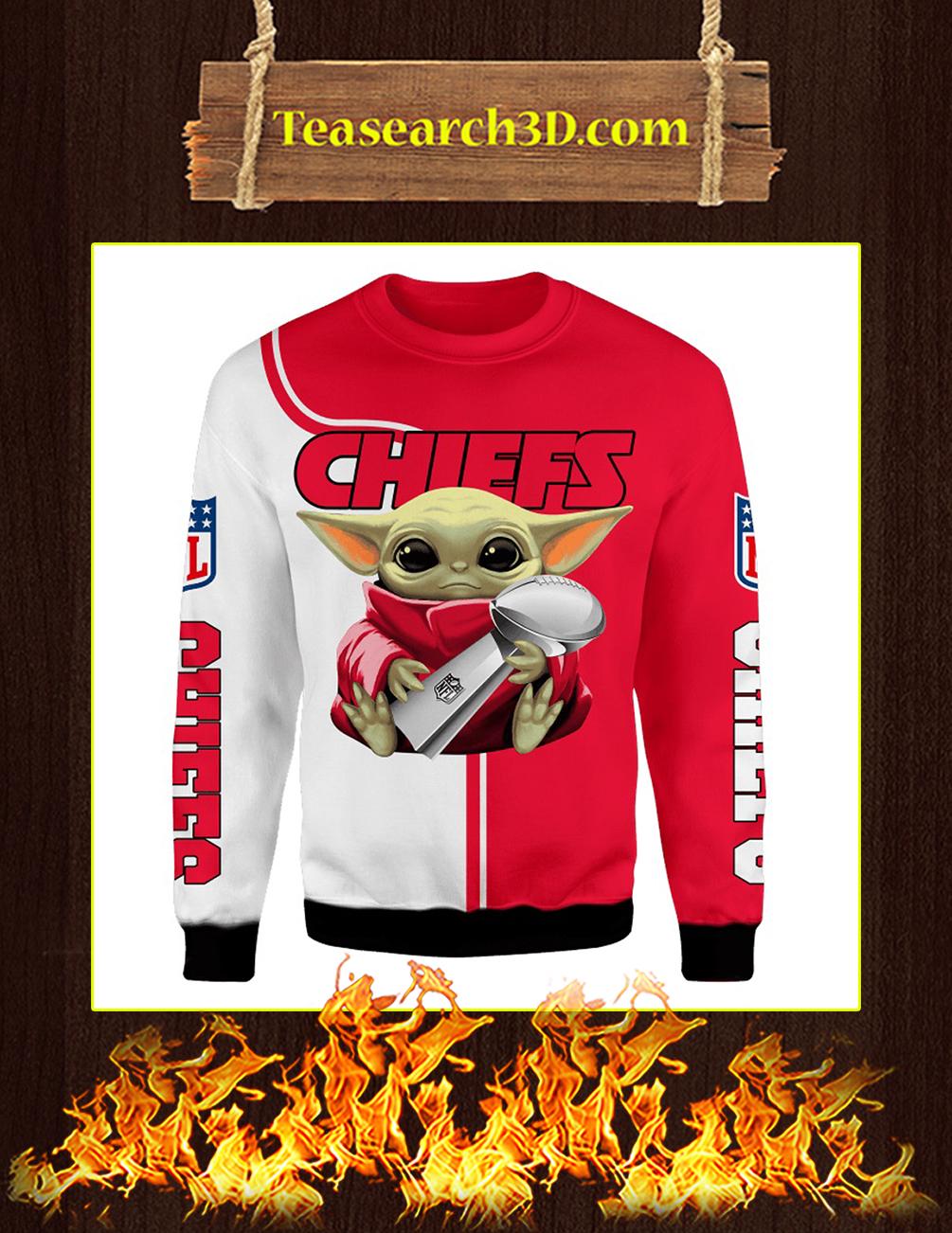 Chiefs Baby Yoda Hug Vince Lombardi Trophy 3D Full Printing Sweatshirt