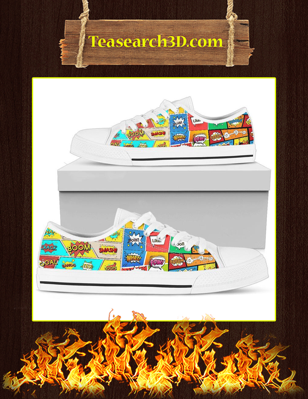 Comic Book Sounds Low Top Shoes Pic 1