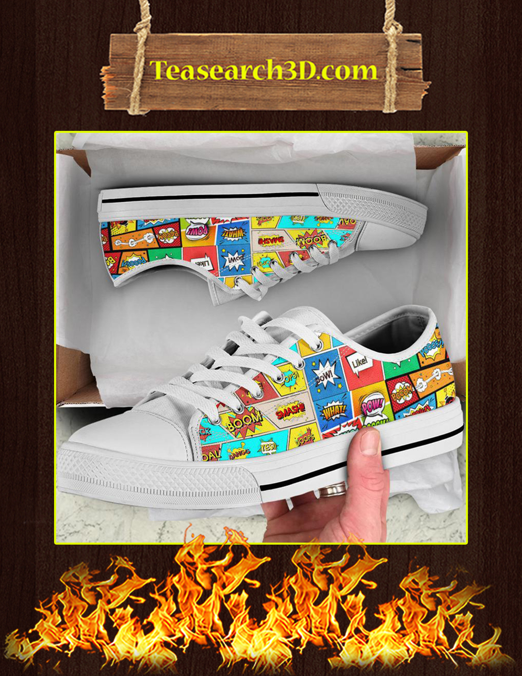 Comic Book Sounds Low Top Shoes Pic 3