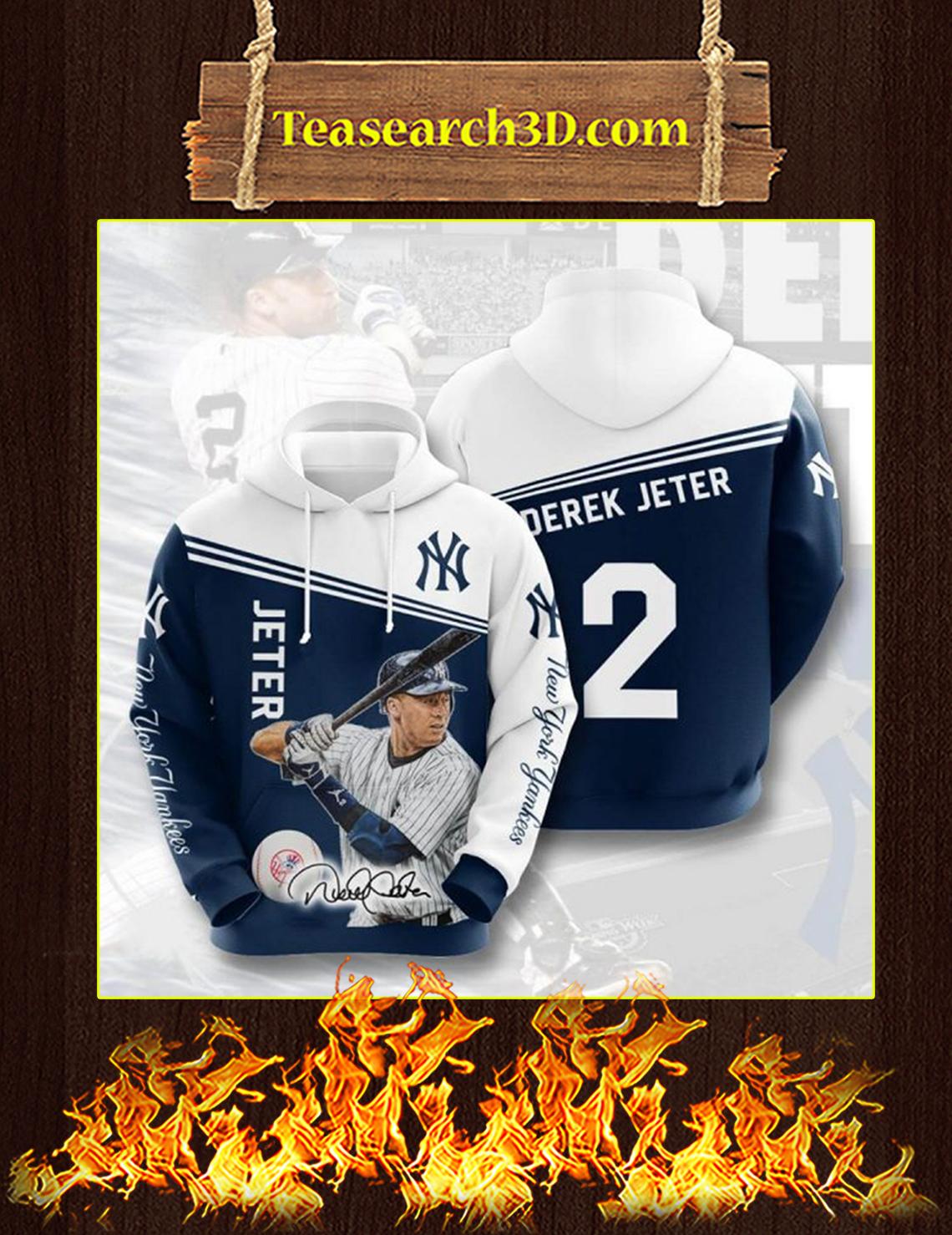 Derek Jeter New York Yankees 3D Hoodie Size L