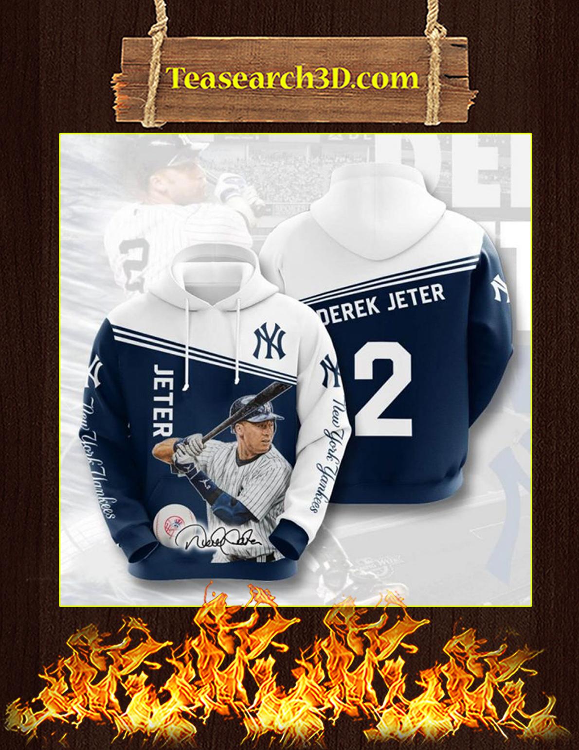 Derek Jeter New York Yankees 3D Hoodie Size XL