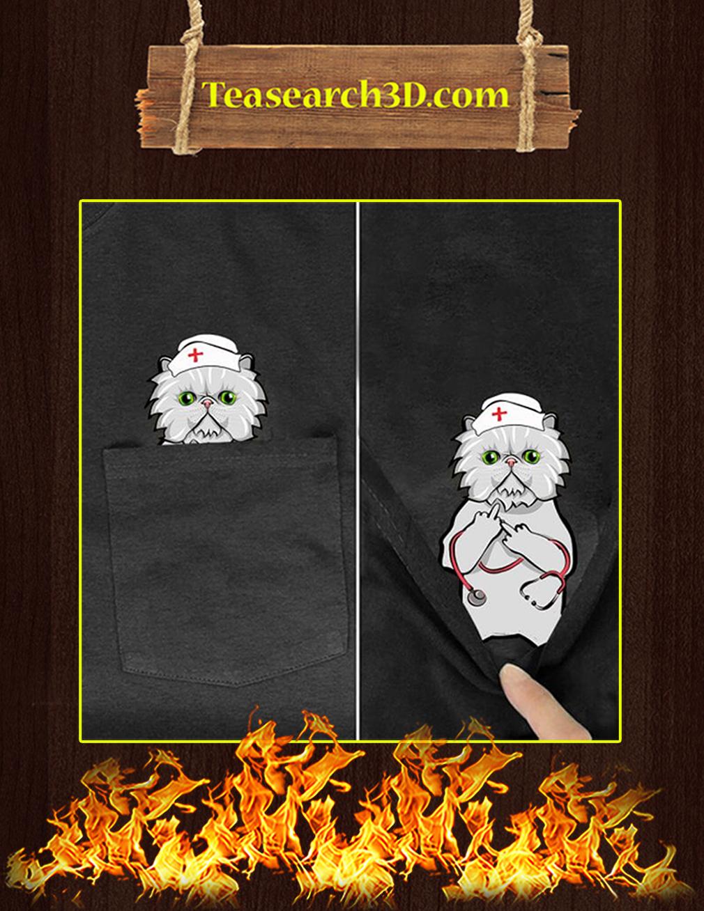 Funny Grumpy Cat Pocket T-Shirt