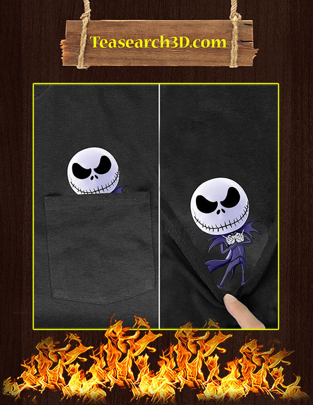Funny Jack Skellington Pocket T-Shirt - In Detail