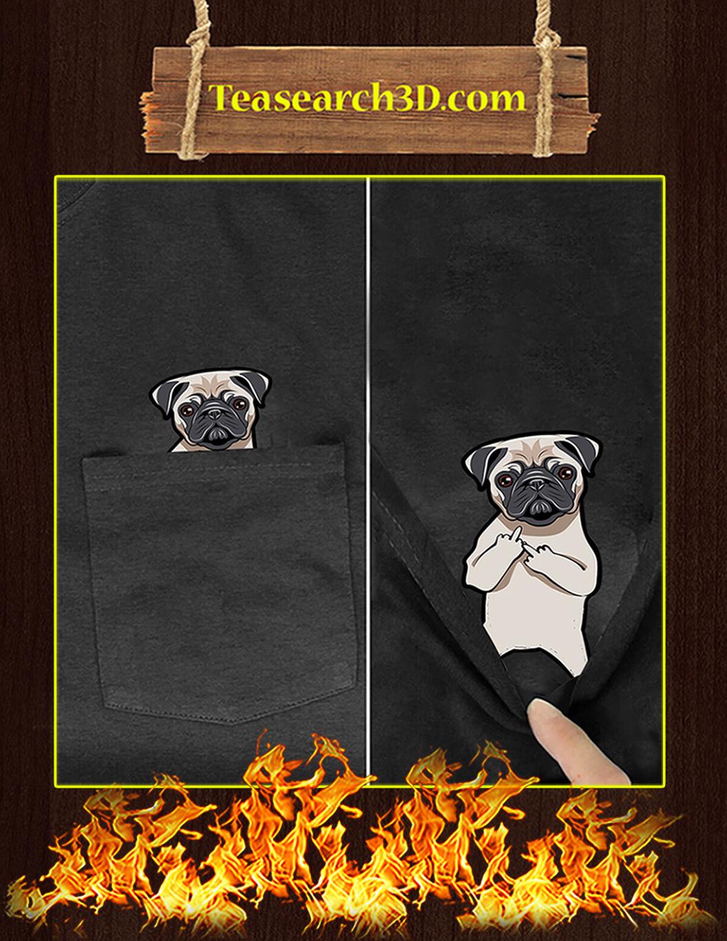 Funny Pug Pocket T-Shirt - In Detail