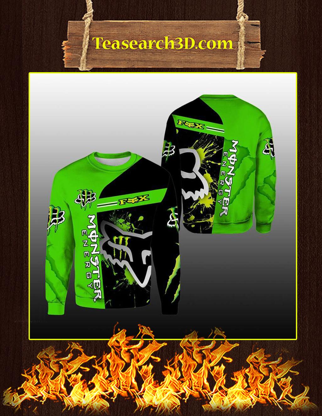 Green Monster Energy Fox Racing 3D Sweatshirt