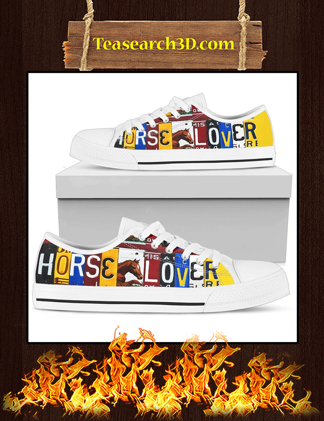 Horse Lover Low Top Shoes Pic 1