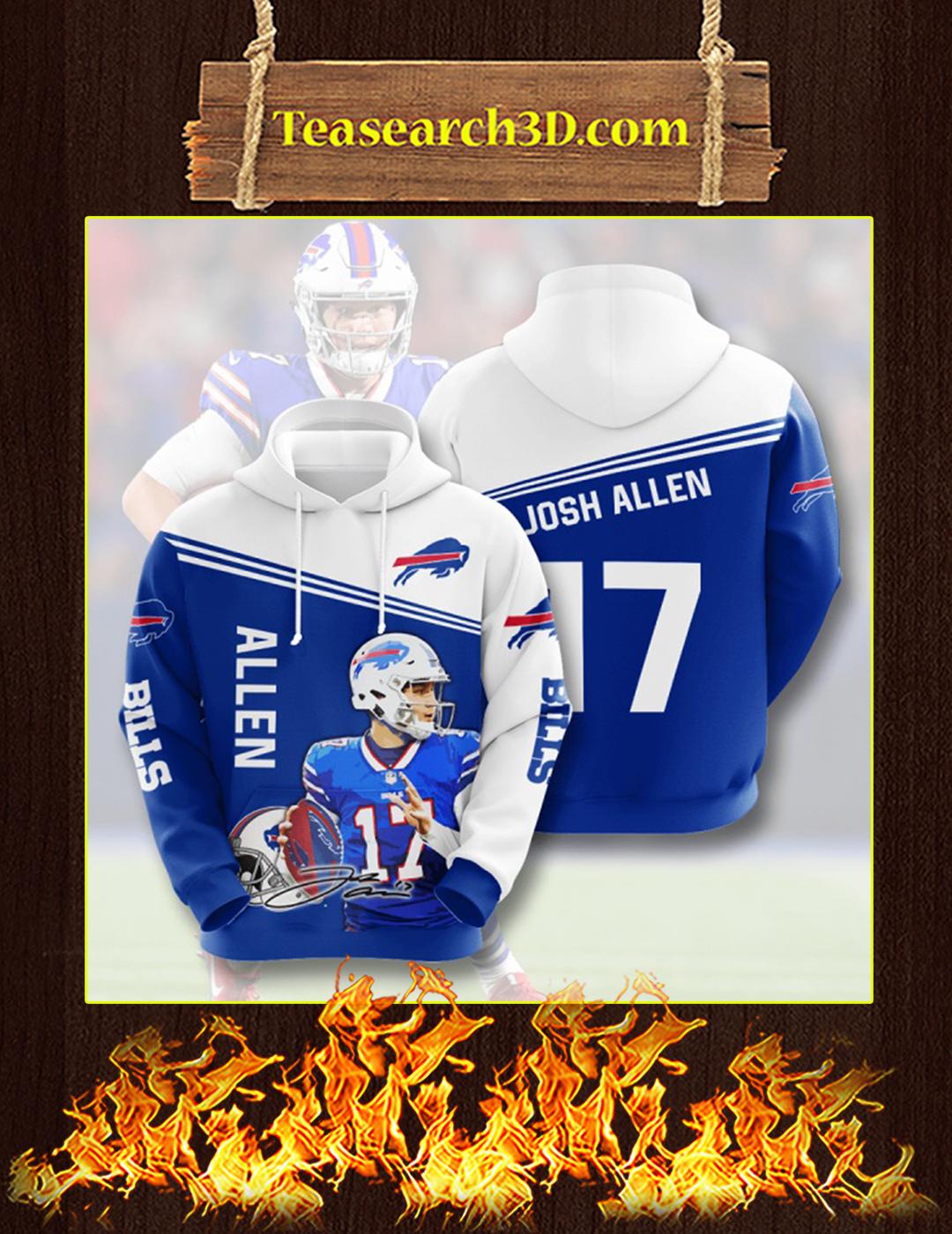 Josh Allen Buffalo Bills 3D Hoodie Size M