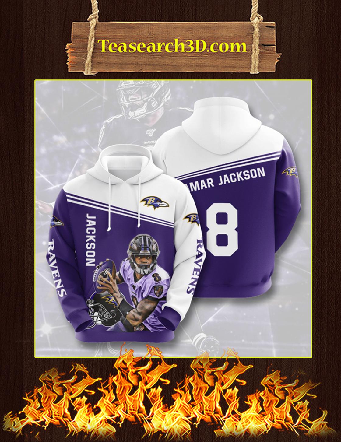 Lamar Jackson Ravens 3D Hoodie Size L