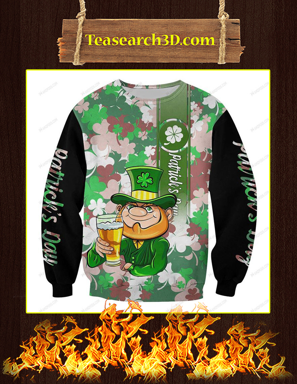 Leprechaun St Patrick's Day 3D All Over Printed Sweatshirt