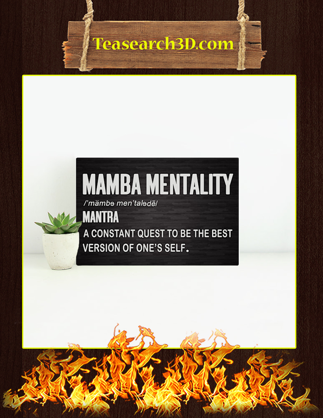 Mamba Mentality A Constant Quest To Be The Best Version Of One's Self Canvas Prints - Medium