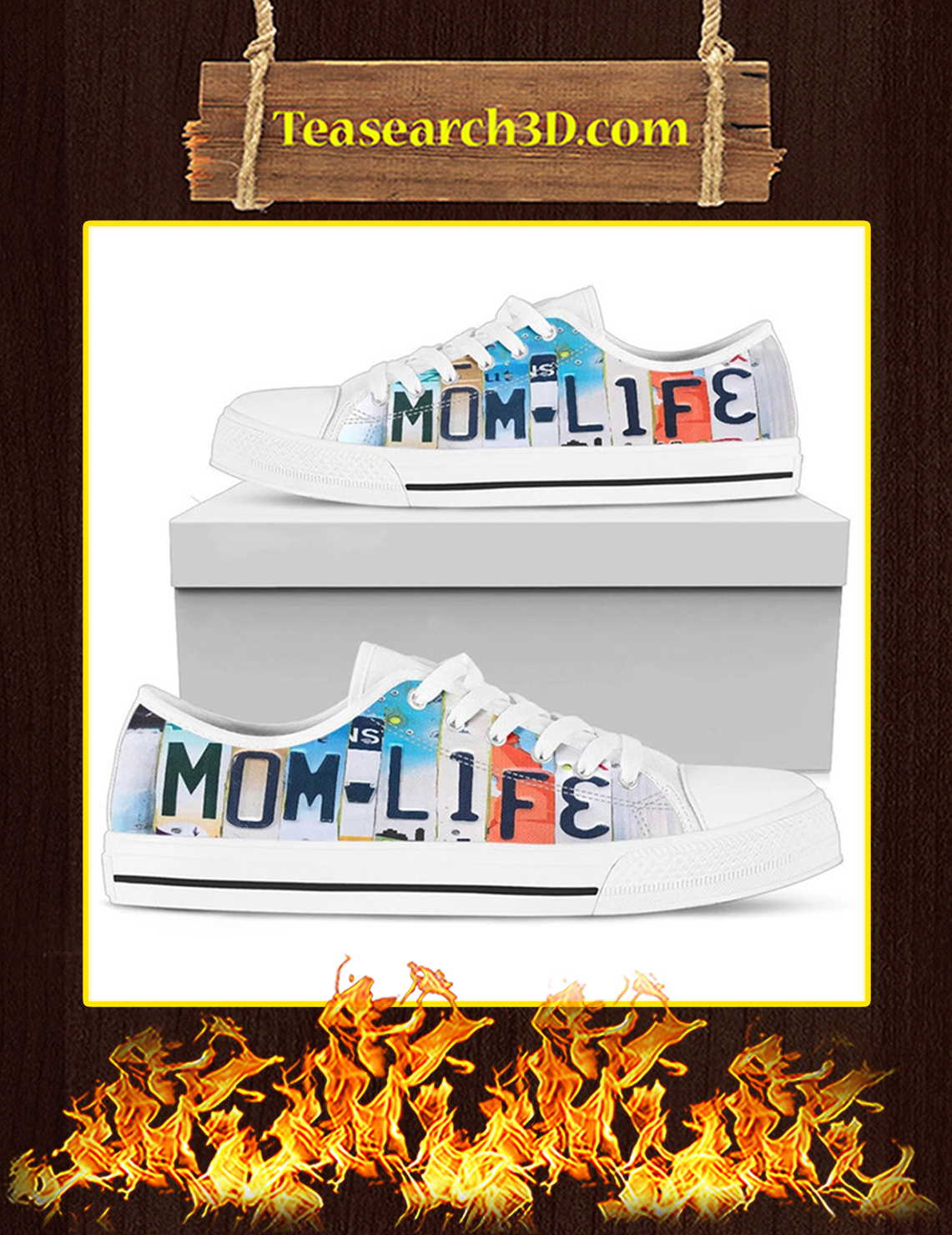 Mom Life Low Top Shoes Pic 3