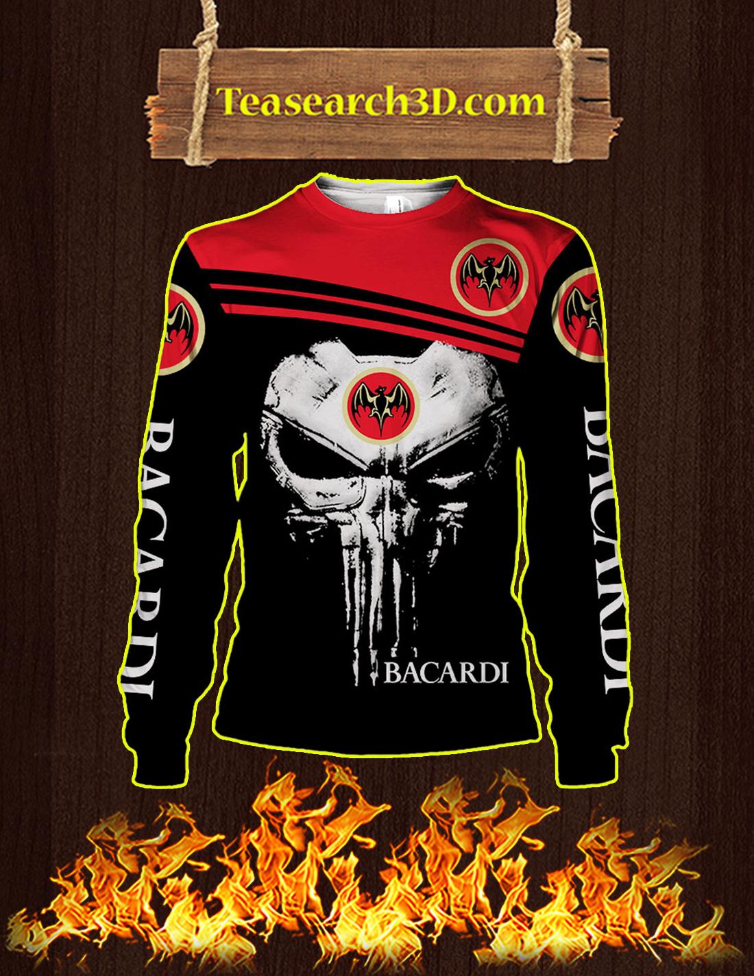 Punisher Skull Bacardi 3D Sweatshirt