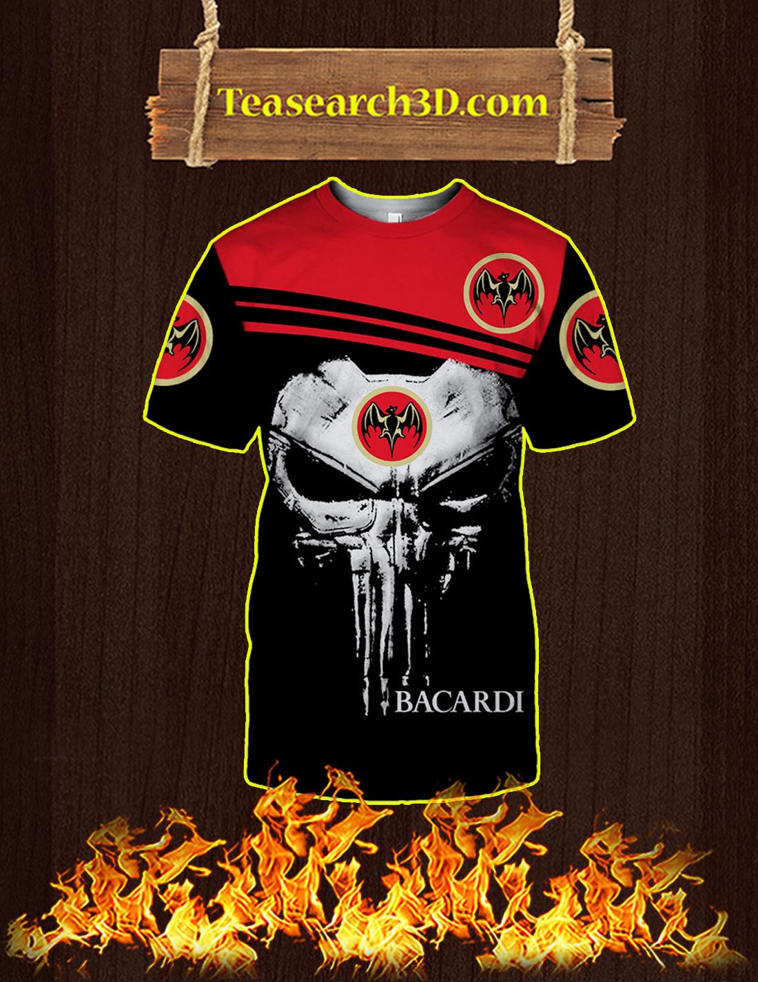 Punisher Skull Bacardi 3D T-shirt