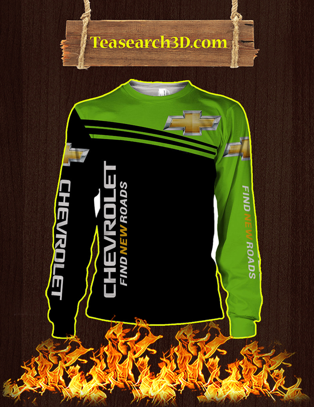 Punisher Skull Chevrolet 3D Sweatshirt
