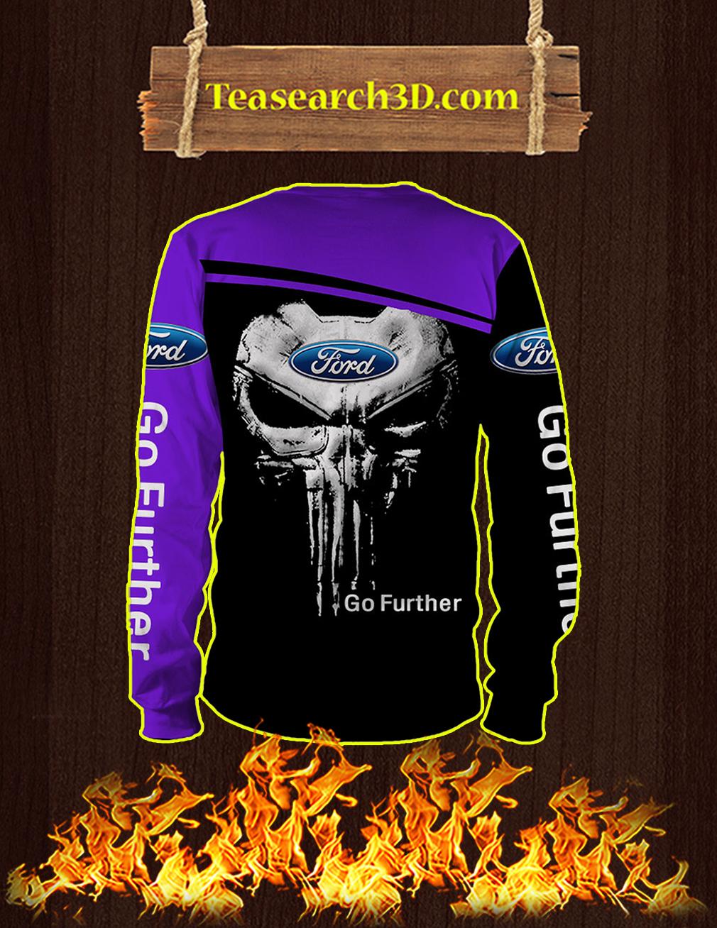 Punisher Skull Ford 3D Long-sleeved back