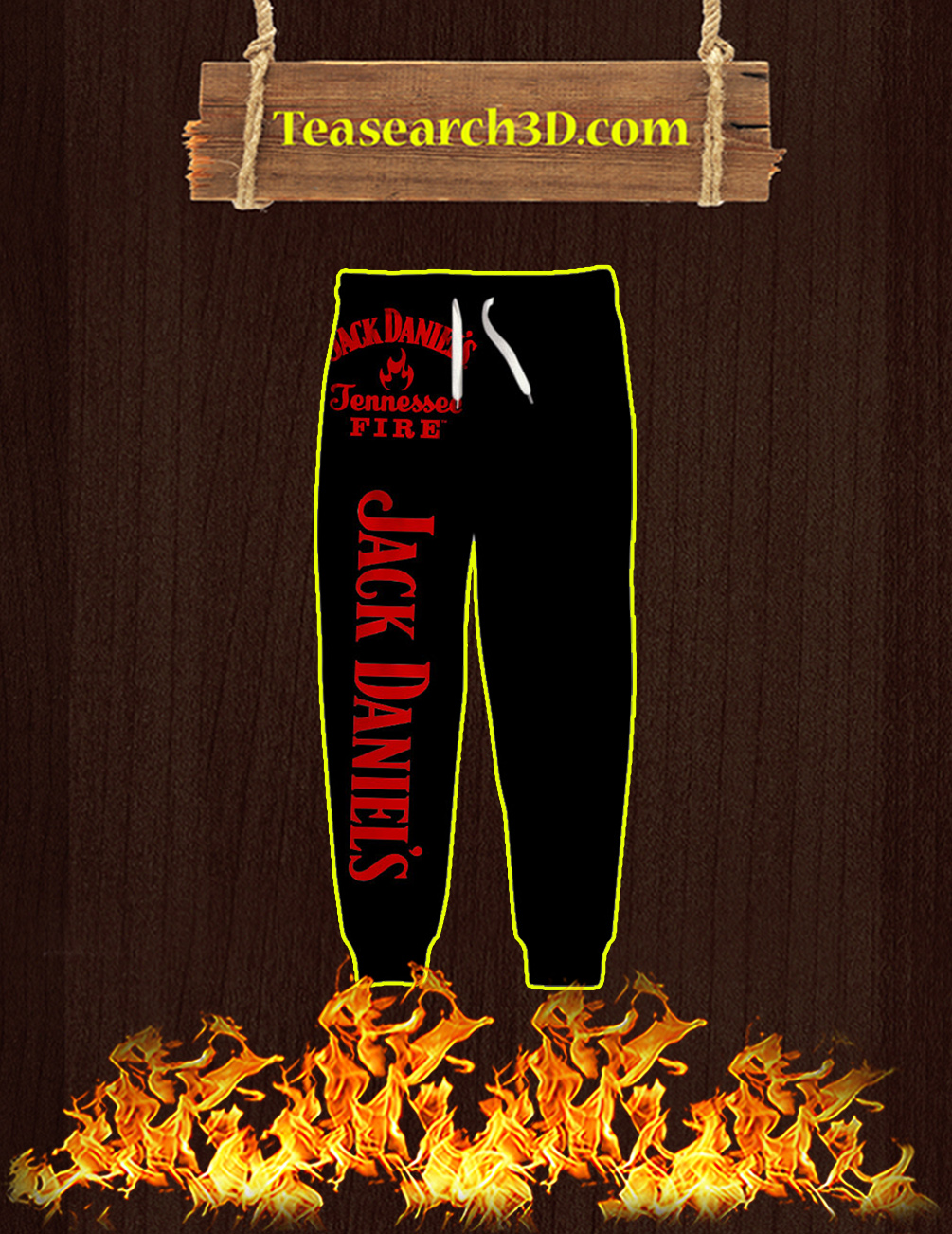 Punisher Skull Jack Daniel's Tennessee Fire 3D Long Pant