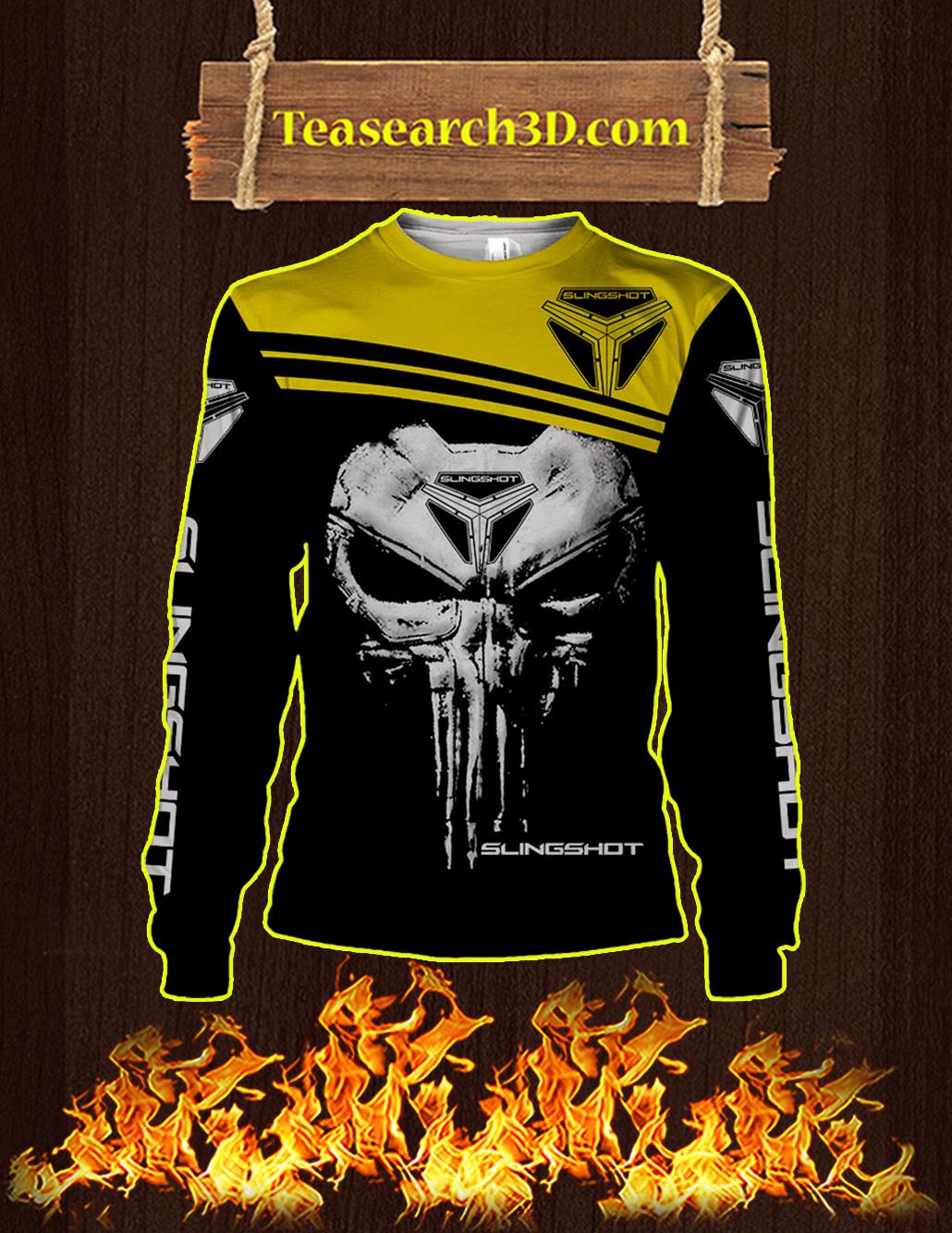 Punisher Skull Slingshot 3D Full Printing Long-sleeved