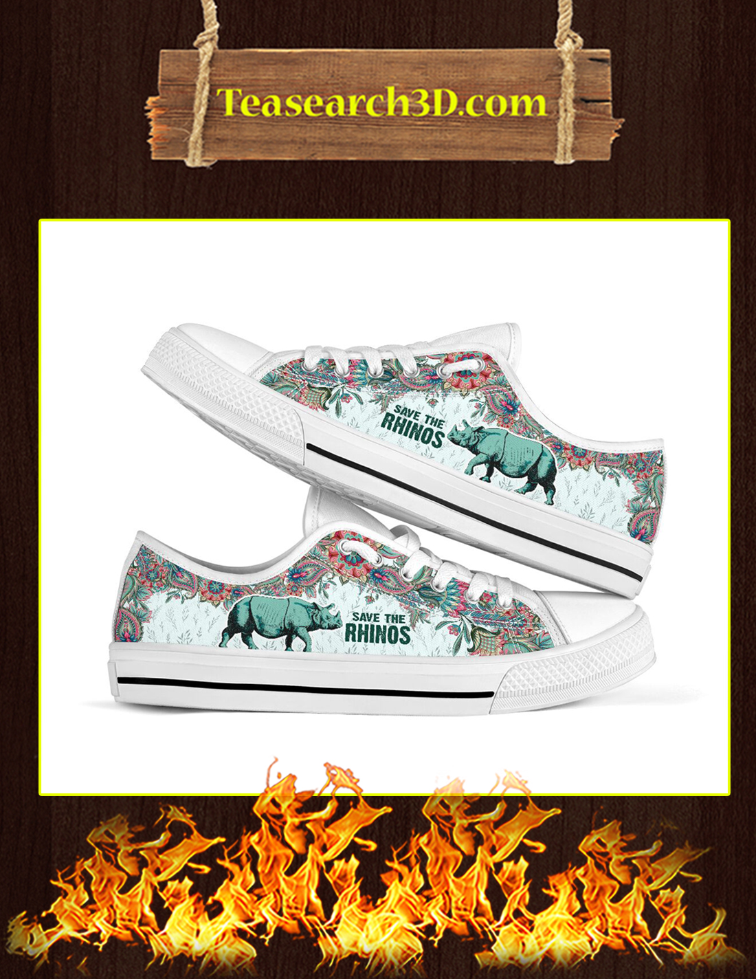 Save The Rhinos Low Top Pic 1