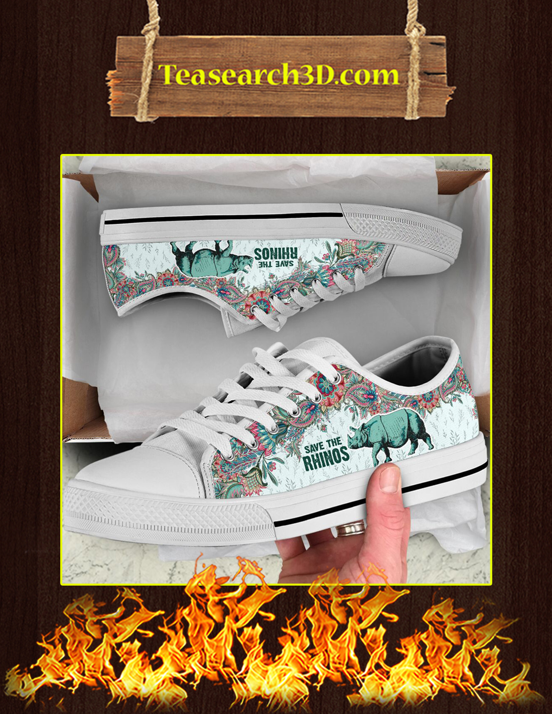 Save The Rhinos Low Top Pic 3