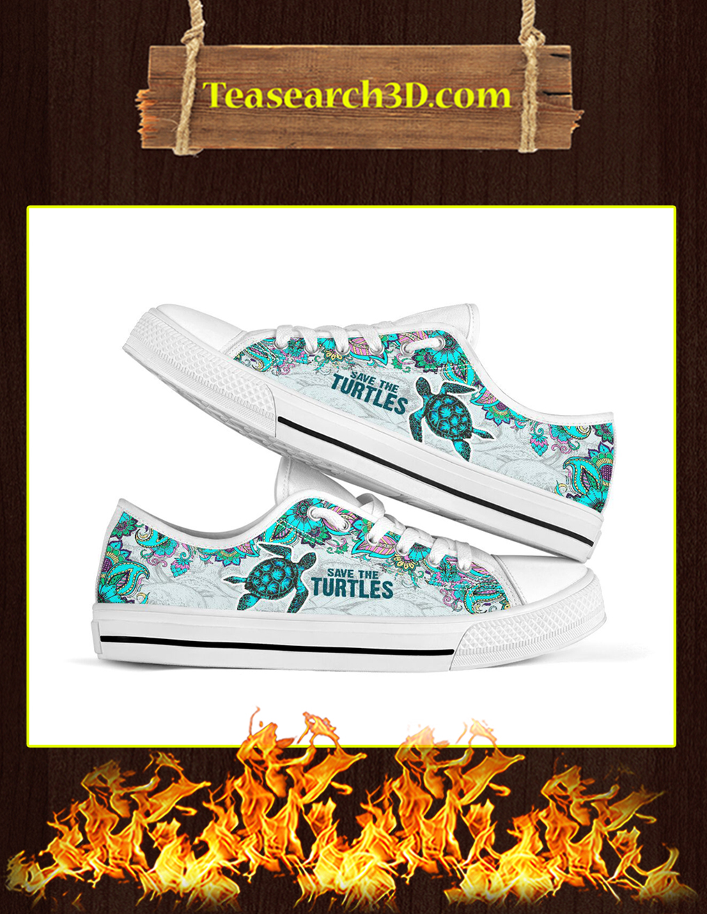 Save The Turtles Low Top - Pic 1