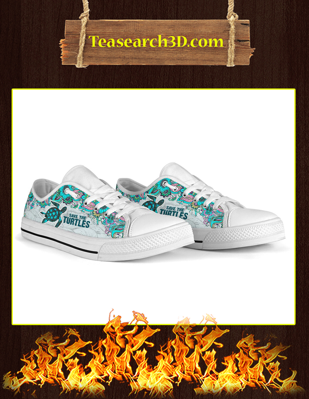 Save The Turtles Low Top - Pic 2
